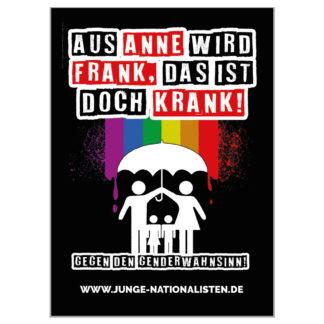 Aus Anne wird Frank - Aufkleber