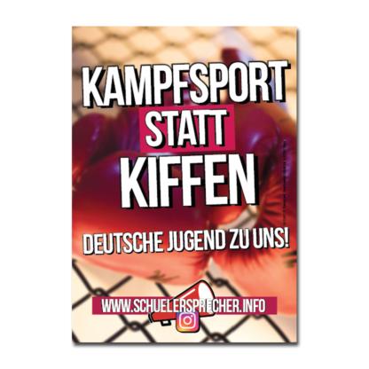 """Schülersprecher - Aufkleber """"Kampfsport statt Kiffen"""""""